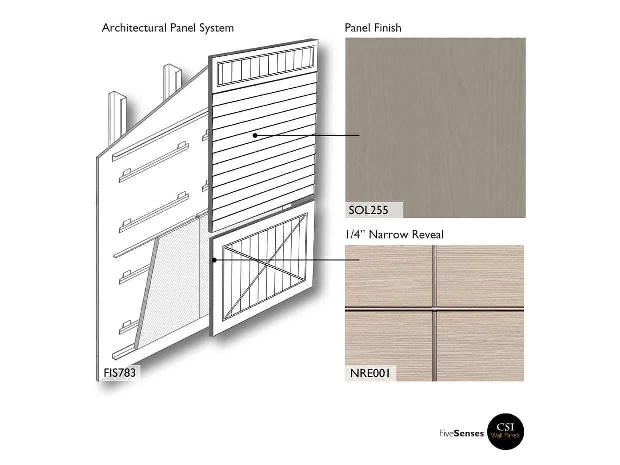 Stone Grey Wood Look Paneling