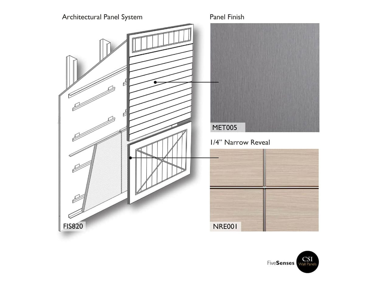 Stainless Aluminum - Wood Paneling Design Ideas