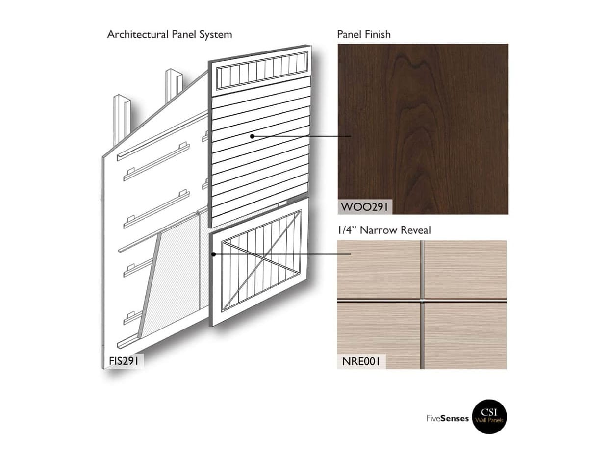 Chocolate Cherry - Wood Veneer Interior Wall Panels