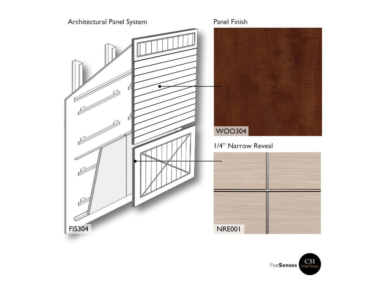 Architectural Exterior Wood Slats Panel Wall System