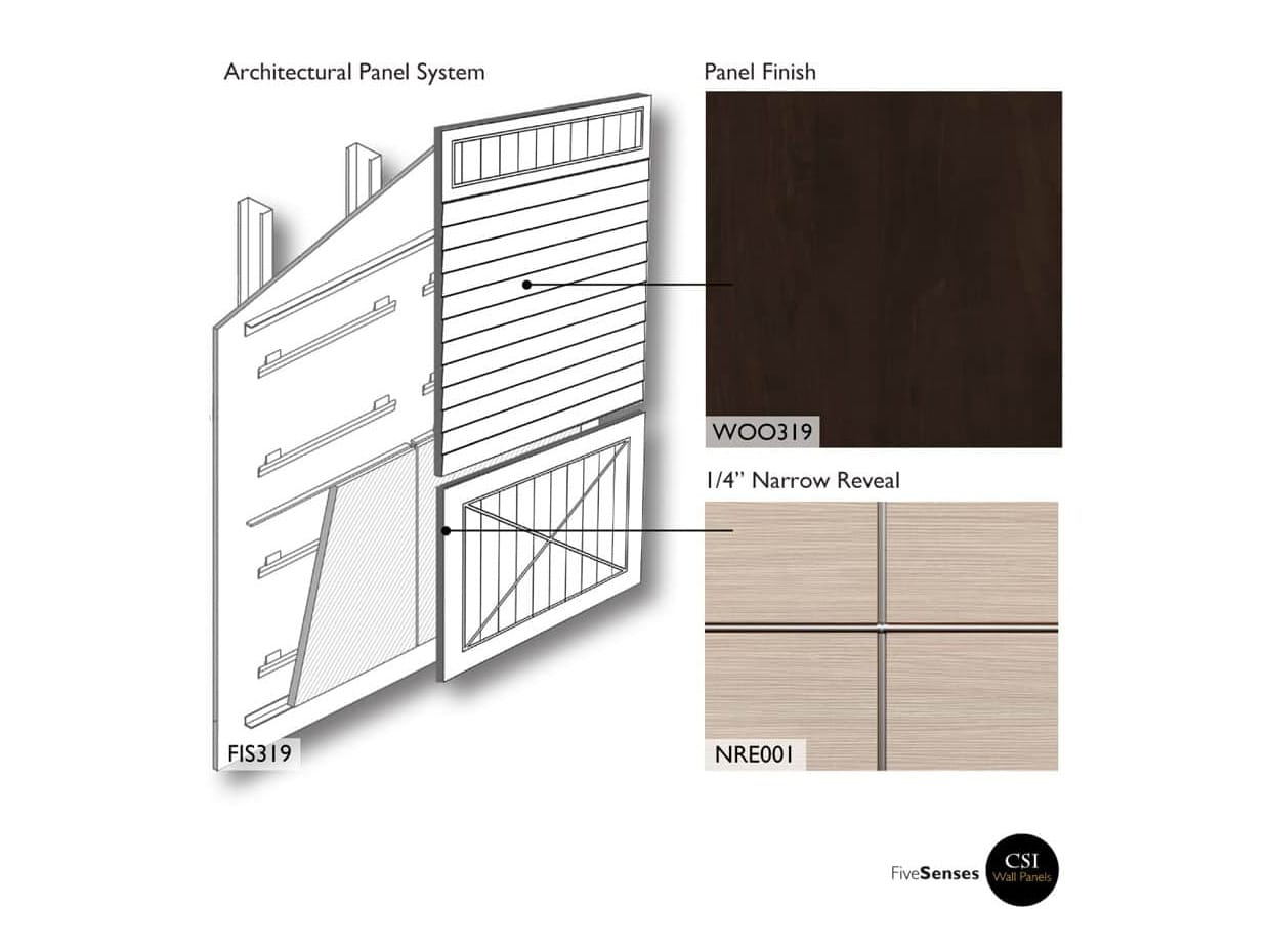 Chocolate Pear Tree - Architectural Wall Panels