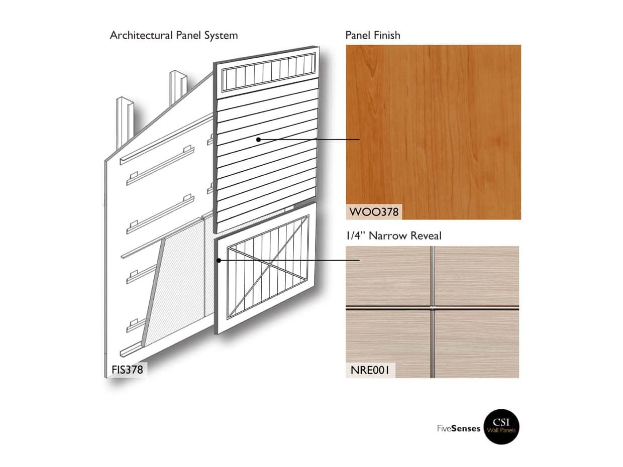 Pear - Slatted Wood Wall Panels
