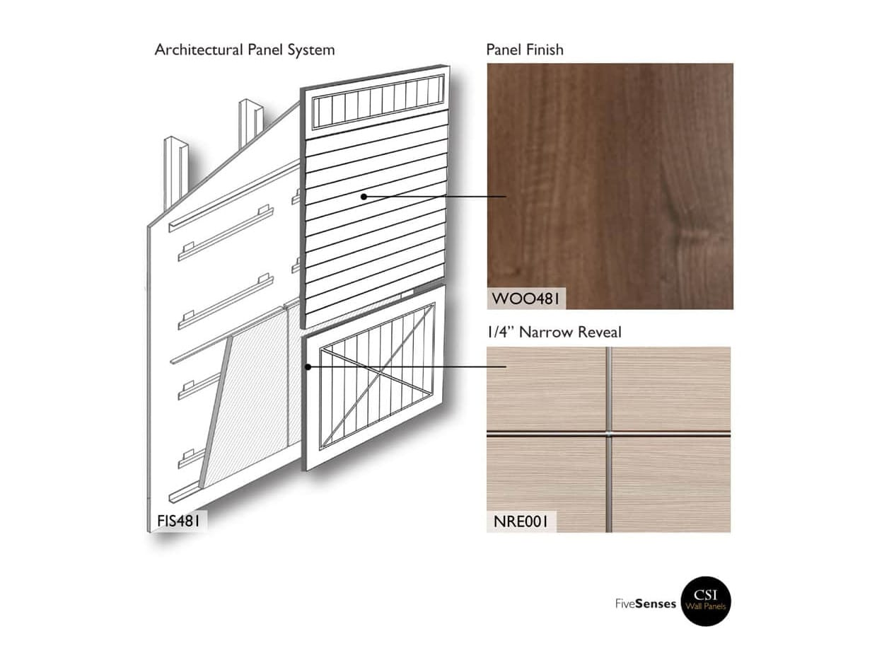 Cambridge Walnut - Custom Veneer Panels