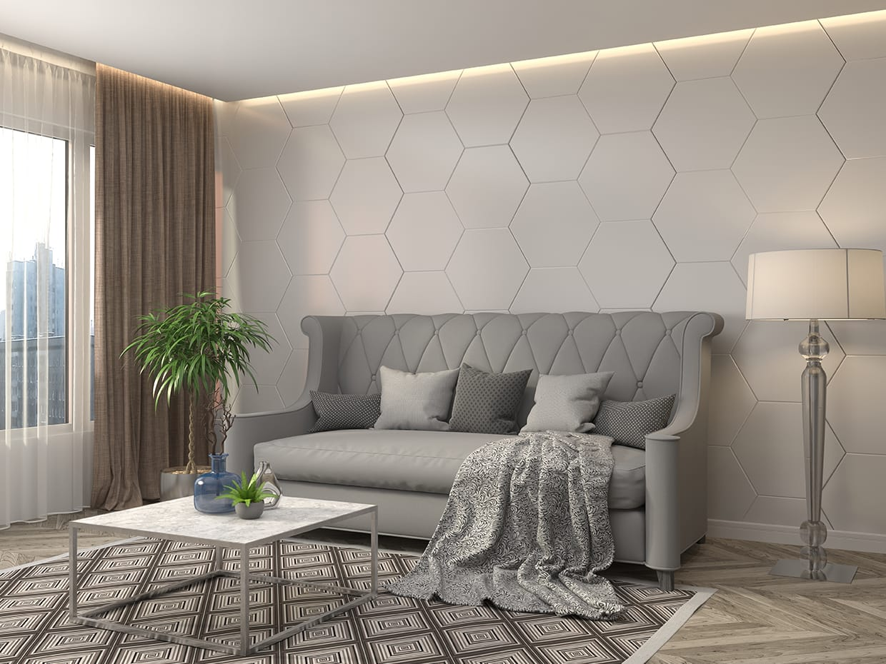 Hexagon Tile Wall Tiles For Living Room Living Room Tile