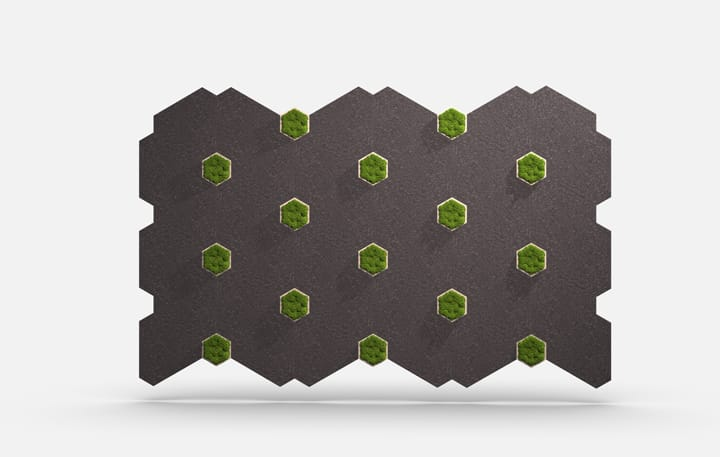 Planar 2702 Trihex Greenery Moss Elevation Csiwallpanels