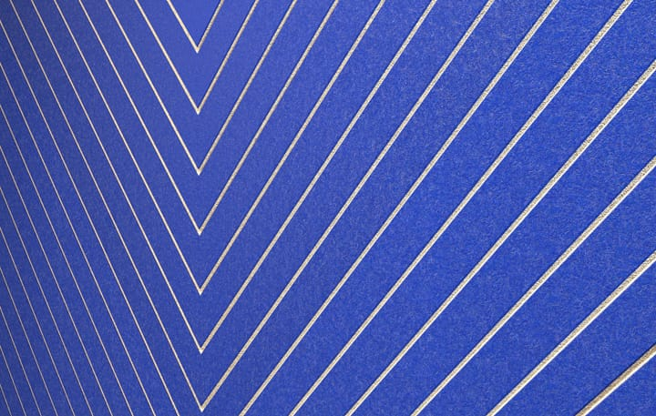Chevrons Color, Blue Detail