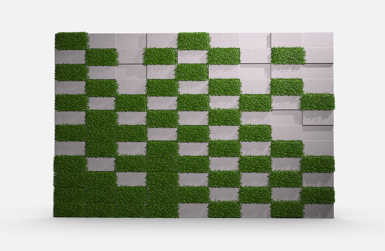 Terrace Greenery Boxwood Elevation Csiwallpanels