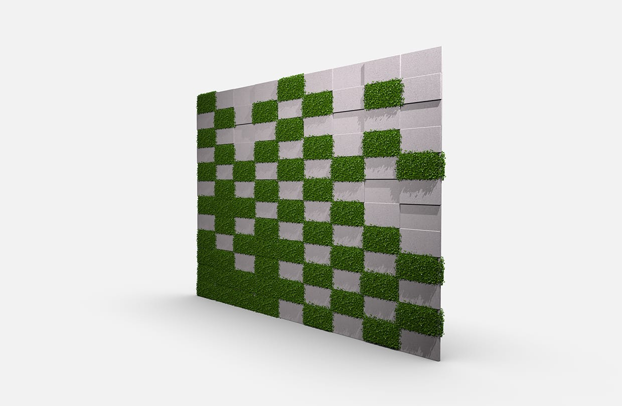 Terrace Greenery Boxwood Perspective Csiwallpanels